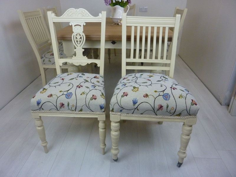 Victorian Wind-out Dining Table and 6 Antique Chairs ...