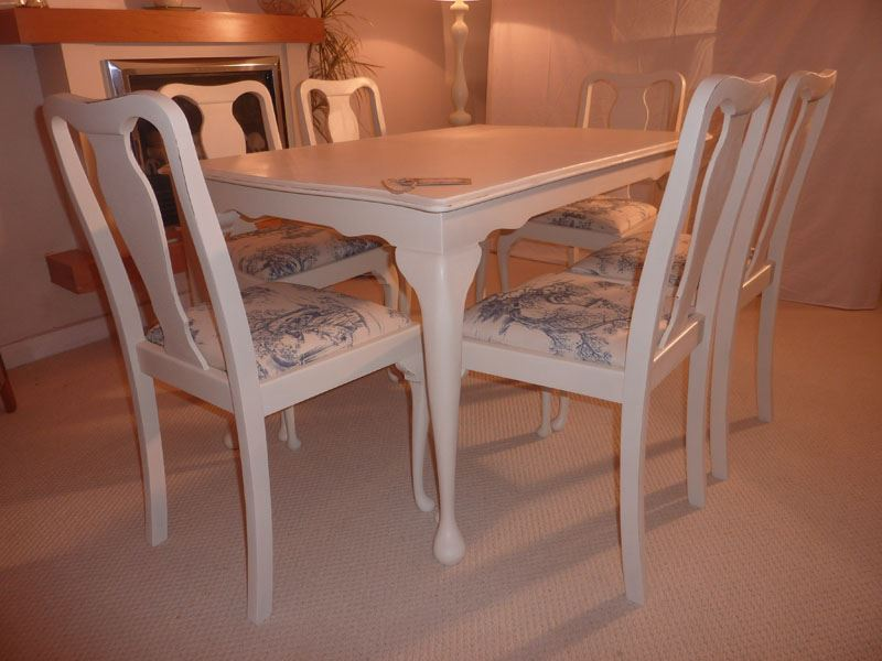 Shabby Chic Extendable Dining Table Chairs Ase Painted
