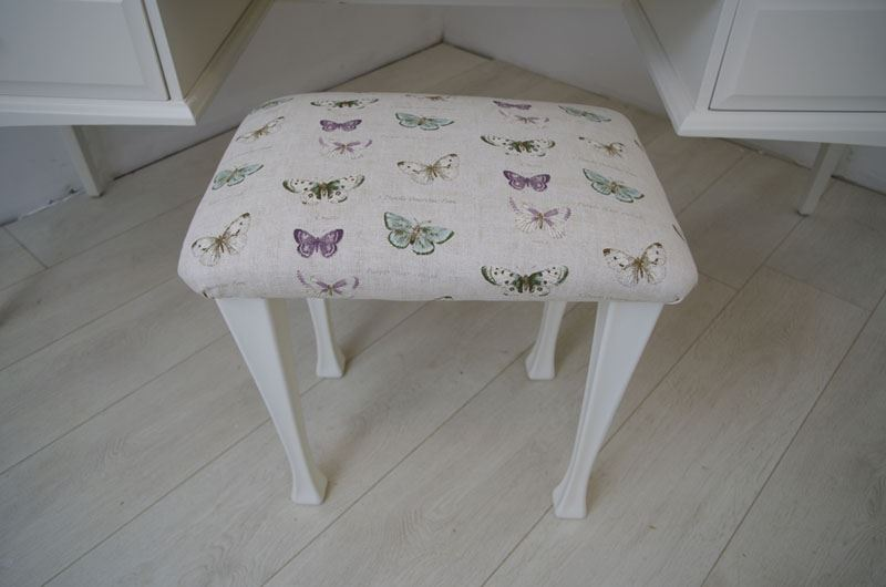 Stag dressing table birds and blossoms painted vintage