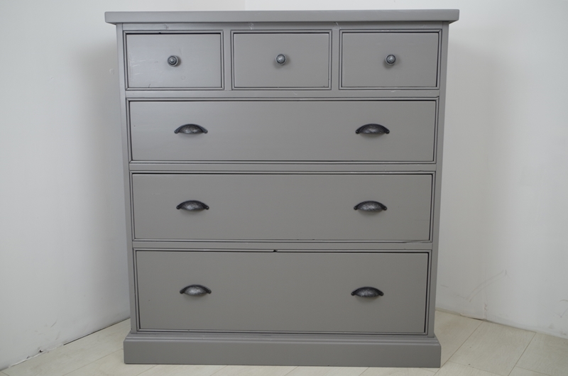 Tall Pine Chest Of Drawers Painted Vintage Antique