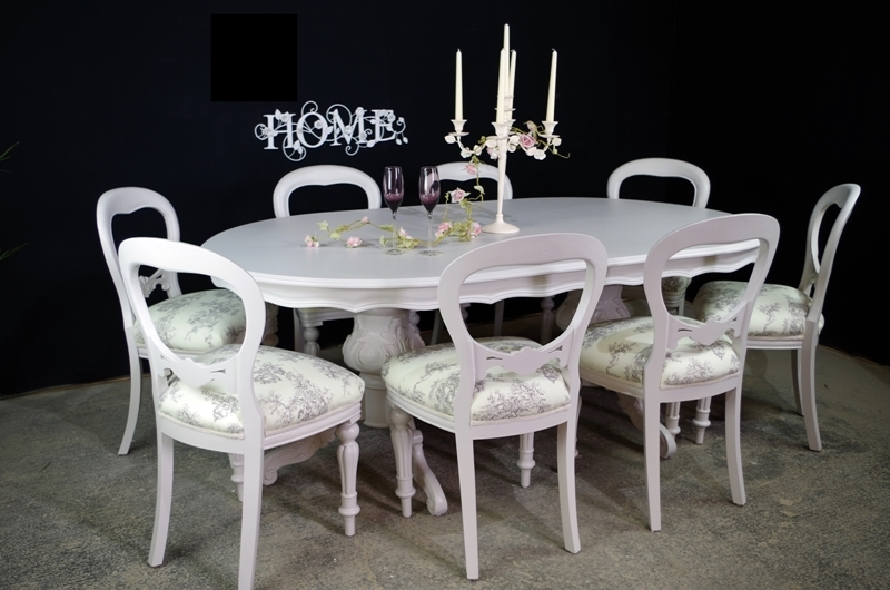 Formal Dining Tables Chairs Painted Vintage Antique Farmhouse