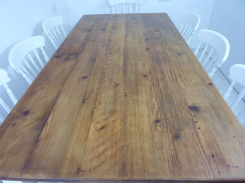 Picture Of 7ft Pine Farmhouse Table And 8 Chairs