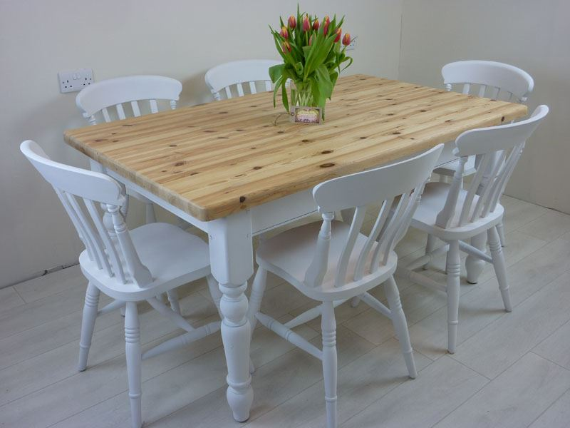 Picture of 5ft  Pine Farmhouse Table and 6 Beech Chairs