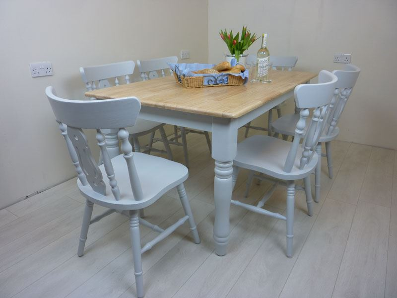 Picture of 5ft  Farmhouse Table and 6 Fiddleback Chairs