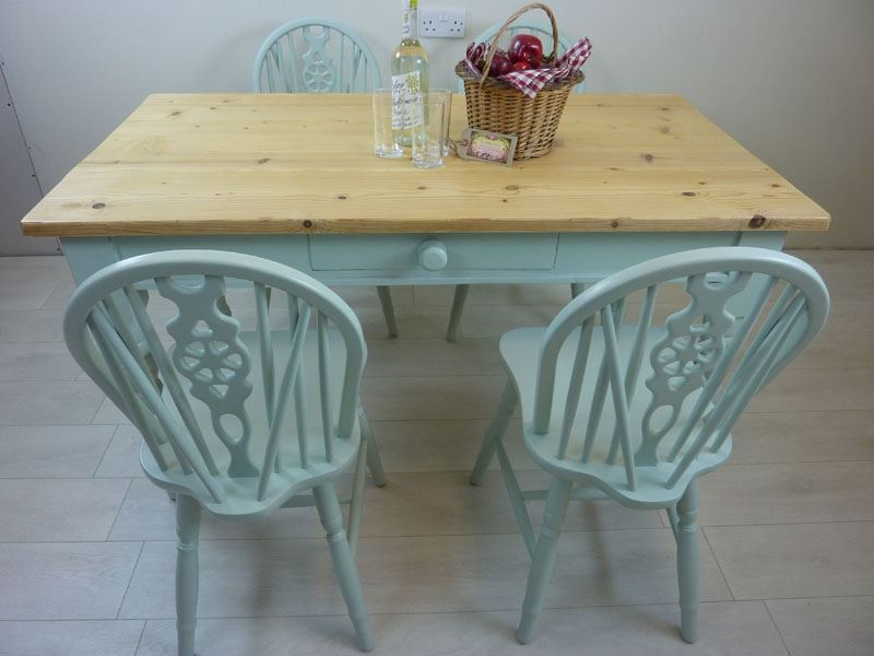 Picture of Pine Farmhouse Table and 4 Wheelback Chairs
