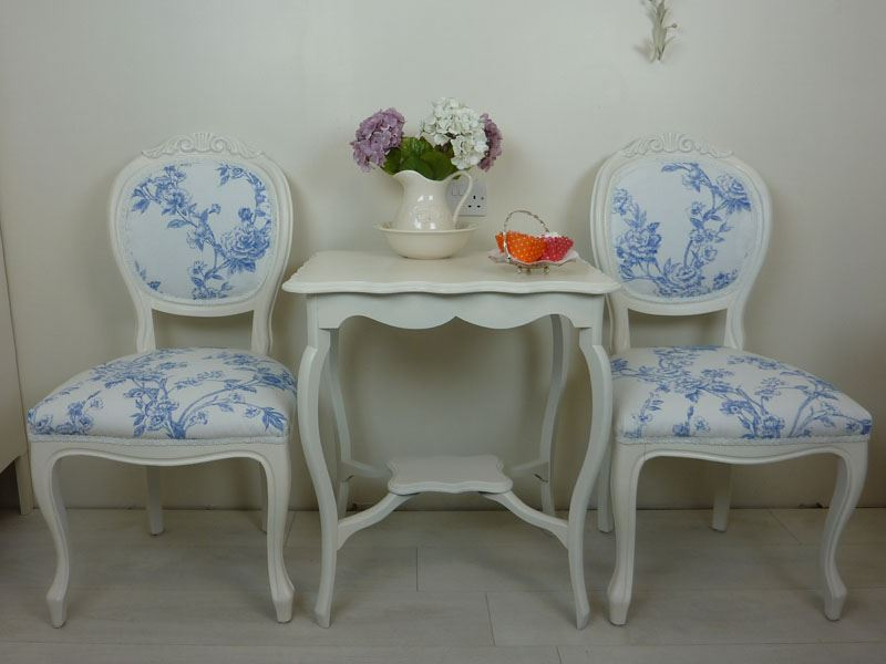 Picture of French Style Occasional Table With Louis Chairs