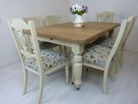 Picture of Victorian Wind-out Dining Table and 6 Antique Chairs