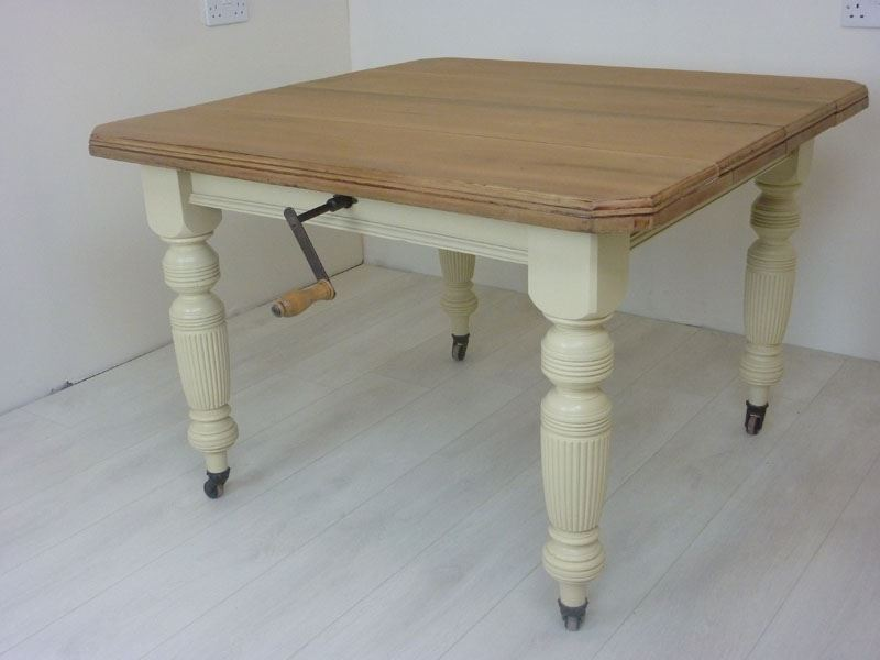 Picture Of Victorian Wind Out Dining Table And 6 Antique Chairs