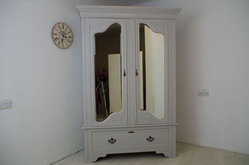 Picture of Antique Wardrobe With Under Drawer