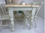 Picture of Pine Farmhouse Table and 4 Spindle Back Chairs
