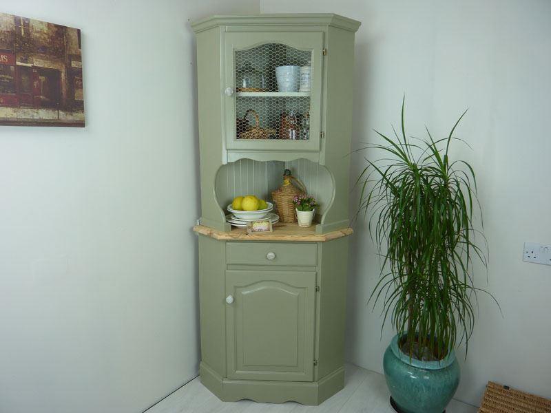 Country Style Pine Corner Dresser