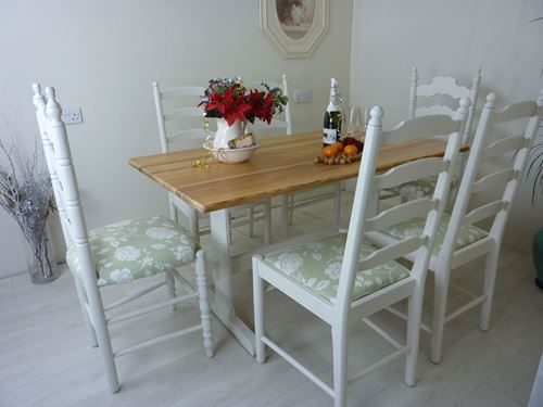 Picture of Douglas Fir Farmhouse Bench Table and 6 Chairs