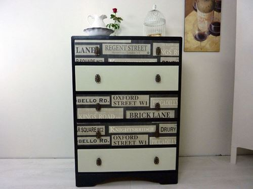 Picture of Tall 5 Drawer Vintage CWS Chest
