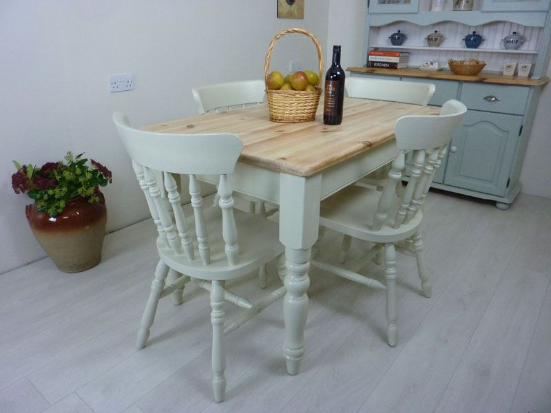 Picture of Pine Farmhouse Table and 4 Chairs in Aran
