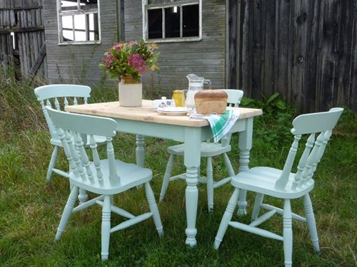 Picture of Pine Farmhouse Table and 4 Chairs