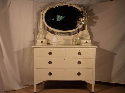 Picture of Edwardian Antique Mahogany Dressing Table