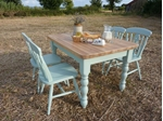 Picture of Pine Farmhouse Table and 4 Fiddleback Chairs