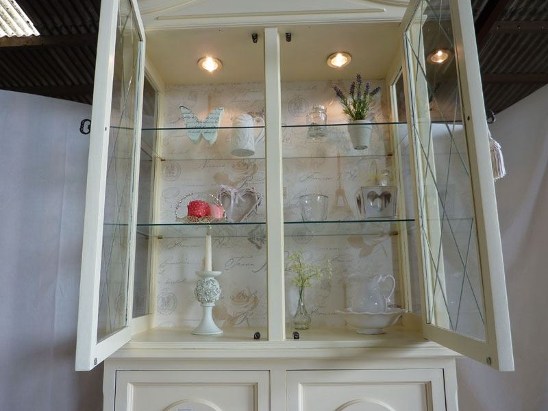 Picture of Vintage Glass Display Cabinet - Vintage Glass Display Cabinet-Painted Vintage, Antique & Farmhouse