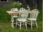 Picture of Oak Dining Table with 4 Wheel Backed Chairs