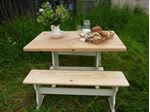 Picture of Farmhouse Pine Table with Benches
