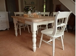 Picture of Pine Block Farmhouse Table and 6 Chairs