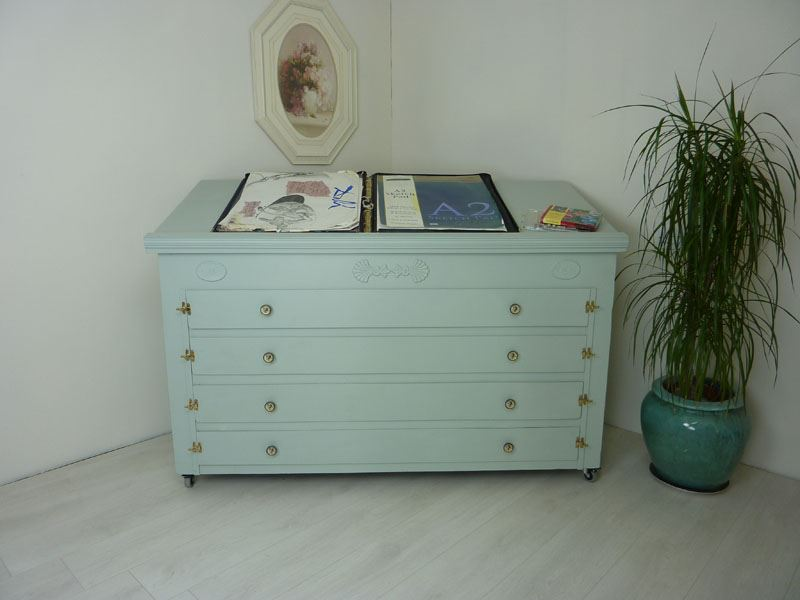 Picture Of Vintage Map Chest Drawers