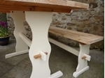 Picture of Farmhouse Pine table with Matching Benches
