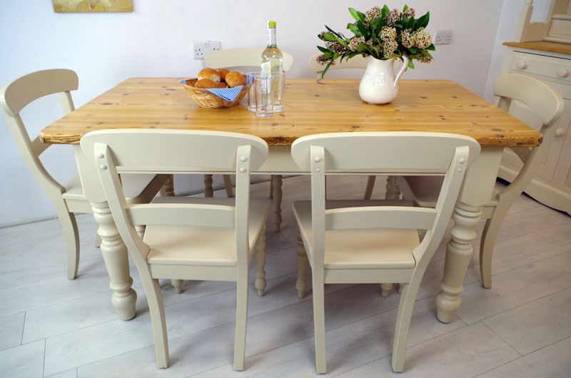 Picture Of Pine Table With 6 Beech Chairs
