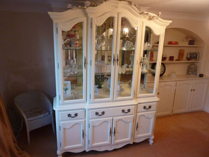 Picture of Large Vintage Display Cabinet - Large Vintage Display Cabinet-Painted Vintage, Antique & Farmhouse