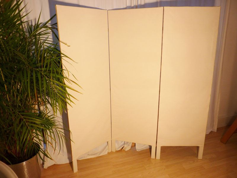 Picture Of Vintage Style 3 Panel Dressing Screen Room Divider