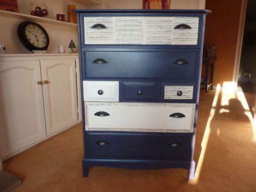 Picture of Vintage Stag 7 Drawer Chest
