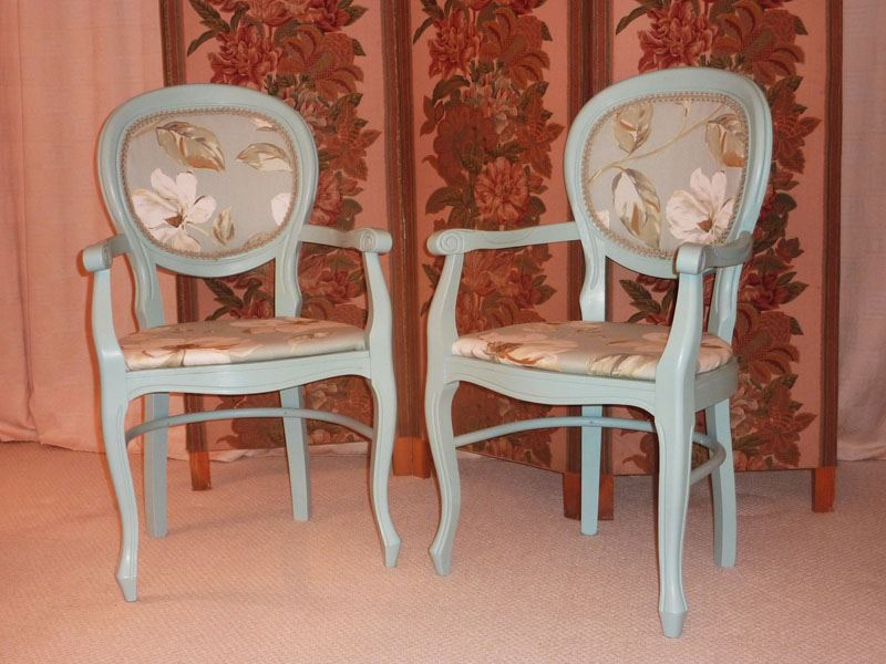 Picture Of Victorian Style Balloon Backed Carver Chairs