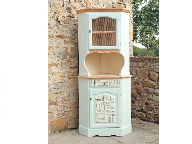 Picture of Corner Pine Dresser - Shabby Chic Style