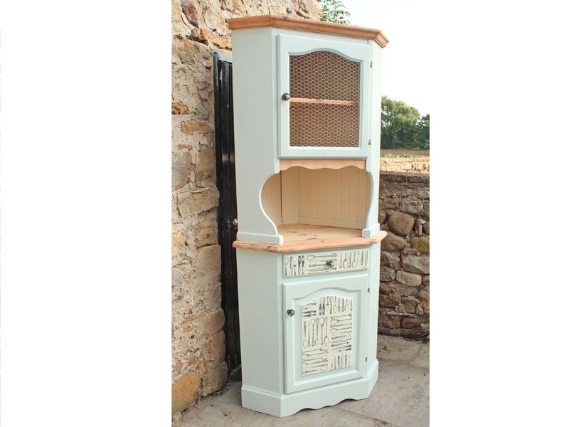 Picture Of Corner Pine Dresser   Shabby Chic Style