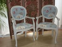 Picture of Upholstered Balloon Backed Chairs