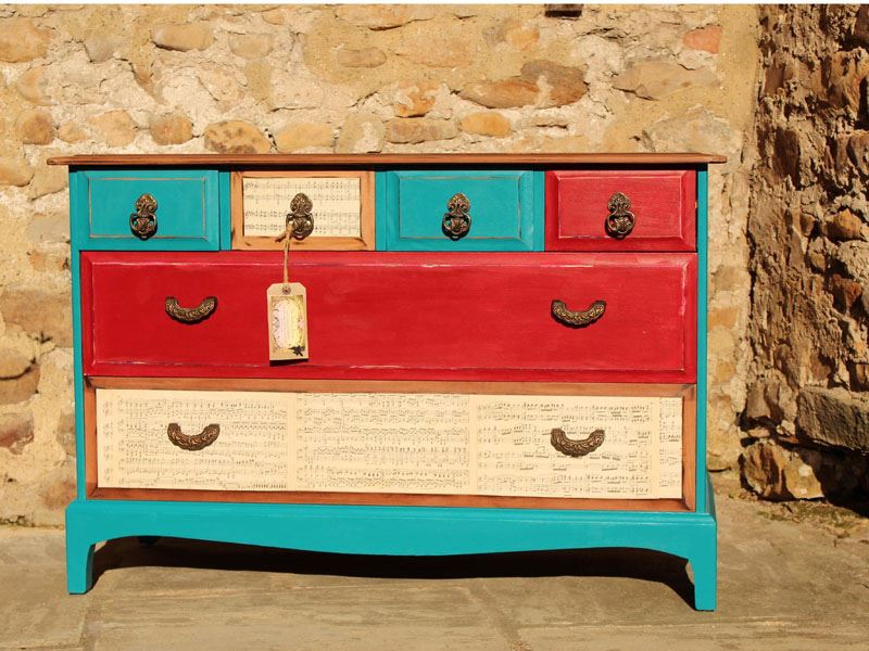 shabby chic red furniture. picture of stag u0027industrial shabby chicu0027 6 drawer chest chic red furniture d