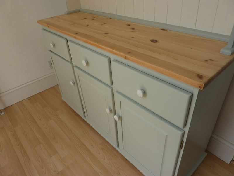Large Farmhouse Painted Pine Dresser Painted Vintage