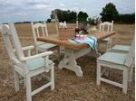 Picture of Huge Rustic Outdoor Dining Set