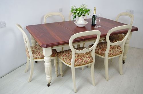 Picture of Victorian Extending Wind Out Table and 6 Balloon Back Chairs