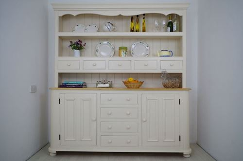 Picture of Large Pine Country Dresser with spice drawers.