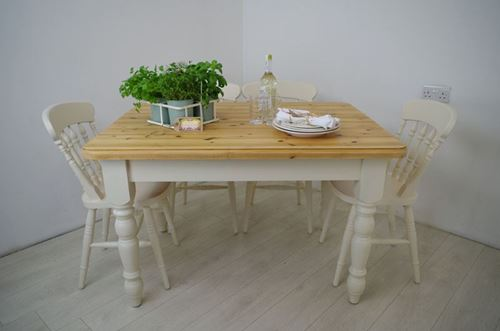 Picture of Pine Farmhouse table and 4 Beech chairs