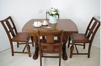 Picture of Art Deco style dining table with 4 matching chairs