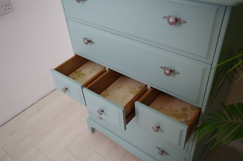 stag 7 drawer tall chest painted vintage antique farmhouse furniture. Black Bedroom Furniture Sets. Home Design Ideas