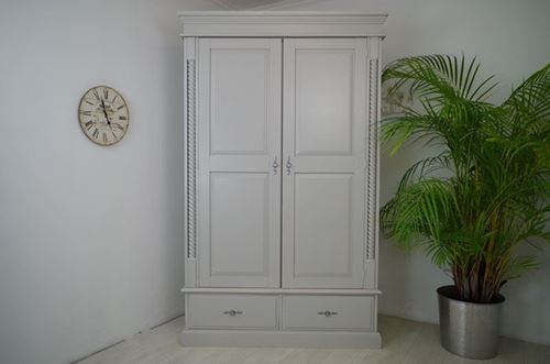 Picture of 2 door pine wardrobe