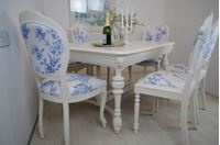 Picture of French Lions Head Antique Oak Table and 6 Chairs