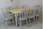 Picture of 6ft Farmhouse Table and 8 Fiddleback Chairs