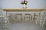 Picture of Pine Farmhouse Table and 6 Beech Slat Back Chairs