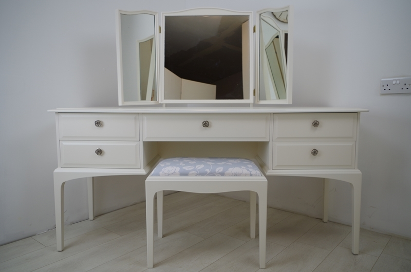 Stag Dressing Table And Stool Butterflies Painted