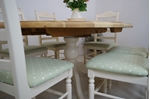 Picture of Oval pine pedestal table and 6 beech ladder backed chairs