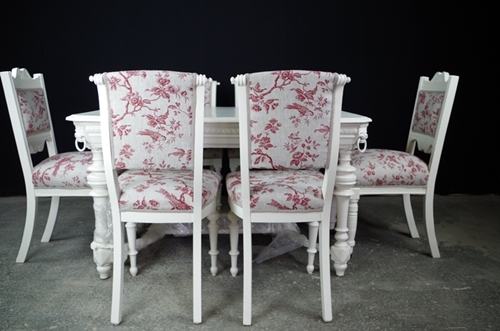 Picture of Antique French and Victorian Dining Chair Set